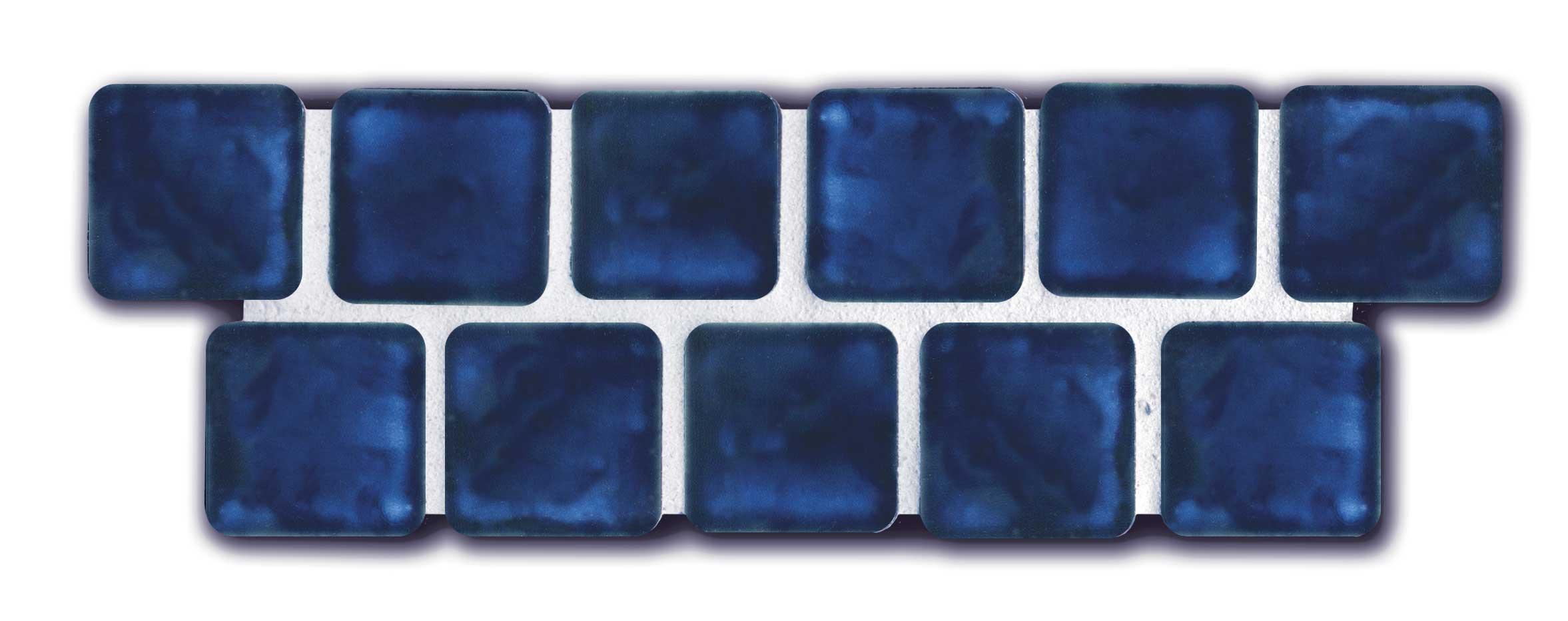 Navy blue ceramic tile